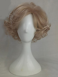 cheap -Synthetic Wig Wavy Wavy Wig Blonde Medium Length Blonde Synthetic Hair Blonde hairjoy