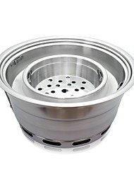 cheap -Camping Stove Camping Burner Stove Outdoor Cookware One-piece Suit Heat Insulated for Stainless Steel Outdoor Camping Silver