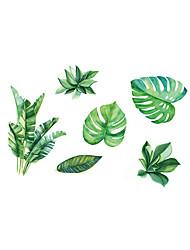 Недорогие -Мода ботанический Наклейки Простые наклейки Декоративные наклейки на стены, Винил Украшение дома Наклейка на стену Окно Стена