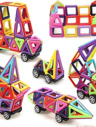 cheap -Magnetic Blocks Magnetic Tiles Building Blocks Building Bricks 76 pcs Vehicles Car Transformable Artistic / Retro Building Toys Boys' Girls' Toy Gift / Kid's