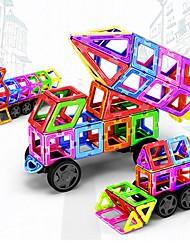 Недорогие -Магнитный конструктор Магнитные плитки Конструкторы 198 pcs Транспорт Автомобиль трансформируемый Мальчики Девочки Игрушки Подарок