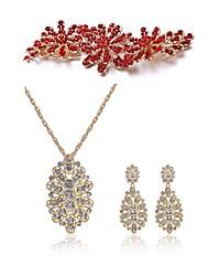 cheap -Women's Hair Sticks Bridal Jewelry Sets European Fashion Imitation Pearl Imitation Diamond Earrings Jewelry White For Wedding Party