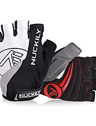 cheap -Nuckily Bike Gloves / Cycling Gloves Mountain Bike Gloves Mountain Bike MTB Reflective Breathable Anti-Slip Protective Fingerless Gloves Half Finger Sports Gloves Lycra Terry Cloth White for Adults'