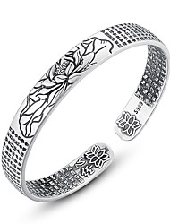 cheap -Women's Cuff Bracelet Ladies Ethnic Fashion Alloy Bracelet Jewelry Silver For Daily Formal
