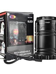 Недорогие -Походные светильники и лампы Аварийные лампы 100 lm Светодиодная лампа - излучатели Автоматический Режим освещения с зарядным устройством Плотное облегание Простой Солнечная энергия