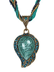 cheap -Women's Pendant Necklace Drop Ladies Ethnic Cord Opal Alloy Red Light Blue Necklace Jewelry One-piece Suit For Daily