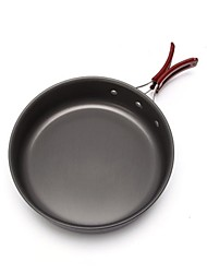 cheap -Camping Fry Pan Outdoor Cookware Wearable Stainless Steel for Outdoor Camping Black