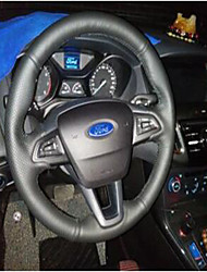 cheap -Steering Wheel Covers Genuine Leather 38cm Black / Red / Gray For Ford / universal Focus / General Motors