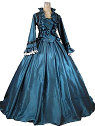 cheap -Dress Lace Costume Blue Vintage Cosplay Plus Size Customized