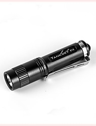 cheap -Tank007 E13 LED Flashlights / Torch Water Resistant / Waterproof 120 lm LED LED 1 Emitters 1 Mode with Battery Water Resistant / Waterproof Everyday Use Black / Aluminum Alloy
