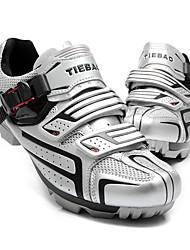cheap -Tiebao® Mountain Bike Shoes Nylon Waterproof Breathable Anti-Slip Cycling Black Silver Green Men's Cycling Shoes / Cushioning / Ventilation / Synthetic Microfiber PU / Cushioning / Ventilation
