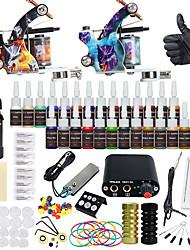 Недорогие -DRAGONHAWK Татуировочная машина Набор для начинающих - 2 pcs татуировки машины с 1 x 30 ml / 28 x 5 ml татуировки чернила, Настройка напряжения, Лучшее качество, Простота настройки Сплав M