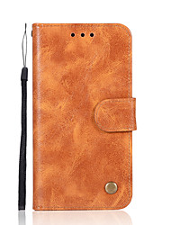 cheap -Case For Nokia Nokia 8 / Nokia 6 / Nokia 5 Wallet / Card Holder / with Stand Full Body Cases Solid Colored Hard PU Leather