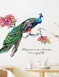 Недорогие -Животные Слова и фразы Наклейки Простые наклейки Декоративные наклейки на стены, Винил Украшение дома Наклейка на стену Окно Стена