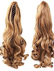 cheap -Clip In Ponytails / Hair Piece Bear Claw / Jaw Clip Human Hair Hair Piece Hair Extension Wavy