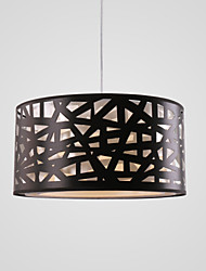 cheap -1-Light 40cm Mini Style Pendant Light Metal Fabric Others Modern Contemporary 110-120V / 220-240V