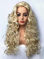 cheap -Synthetic Wig Curly Curly Wig Blonde Long Light Blonde Synthetic Hair Blonde StrongBeauty