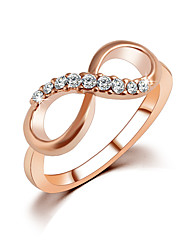 cheap -Women's Couple Rings Knuckle Ring Crystal Rose Gold Zircon Alloy Fashion Elegant Wedding Party Jewelry Infinity