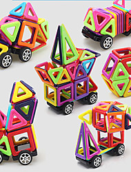 cheap -Magnetic Blocks Magnetic Tiles Building Blocks Building Bricks 64 pcs Fashion Car Transformable Building Toys Boys' Girls' Toy Gift / Kid's