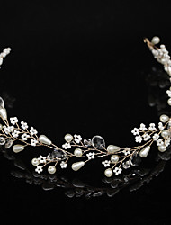 cheap -Ribbon / Alloy Headbands with Pearl 1pc Wedding / Party / Evening Headpiece
