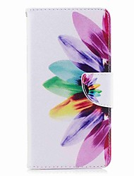cheap -Case For Huawei Honor V8 / Huawei Honor 5C / Huawei P10 Plus / P10 Lite / P10 Wallet / Card Holder / with Stand Full Body Cases Flower Hard PU Leather