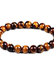 cheap -Women's Unisex Onyx Tiger's eye Stone Hawks Eye Stone Bead Bracelet Bracelet Chakra Vintage Bohemian Fashion equilibrio Agate Bracelet Jewelry Brown For Gift Evening Party / Natural Stone