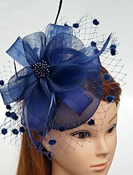 cheap -Feather / Net Fascinators / Flowers / Hats with Feathers / Fur / Floral 1pc Wedding / Special Occasion Headpiece