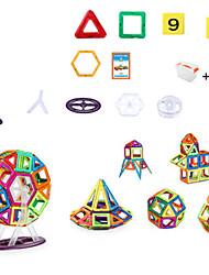 Недорогие -Магнитный конструктор Магнитные плитки Конструкторы 128 pcs Воин Фантастика трансформируемый Классический и неустаревающий Изысканный и современный Мальчики Девочки Игрушки Подарок