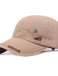 cheap -Sun Hat Hiking Hat Ball Cap Wide Brim Sunscreen UV Resistant Cotton Autumn / Fall Spring Summer for Men's Women's Climbing Outdoor Exercise Black Grey Khaki