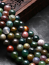 cheap -DIY Jewelry 48 pcs Beads Agate Rainbow Round U Shape Bead 0.8 cm DIY Necklace Bracelet