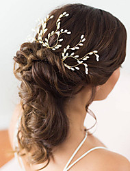 cheap -Pearl Hair Pin with Pearl 3 Wedding / Party / Evening Headpiece