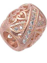 Недорогие -Ювелирные изделия DIY 1 штук Бусины Искусственный бриллиант Сплав Серебряный Розовое золото Цилиндр Шарик 0.5 cm DIY Ожерелье Браслеты