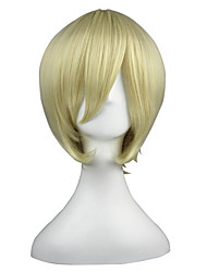 cheap -Synthetic Wig kinky Straight kinky straight Wig Blonde Short Yellow Synthetic Hair Women's Blonde