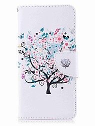 cheap -Case For Nokia Nokia 8 / Nokia 6 / Nokia 5 Wallet / Card Holder / with Stand Full Body Cases Tree Hard PU Leather