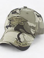 Недорогие -Муж. Для офиса Бейсболка Шляпа от солнца Военная кепка-Стильные Хлопок,Однотонный Камуфляж Зеленый Черный Военно-зеленный