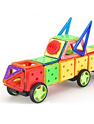 cheap -Magnetic Blocks Magnetic Tiles Building Blocks 188 pcs Architecture Vehicles Car Transformable Special Designed Parent-Child Interaction Boys' Girls' Toy Gift
