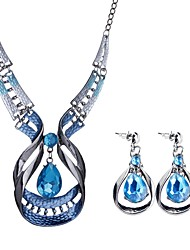 cheap -Women's Jewelry Set Drop Ladies Bohemian European Boho Earrings Jewelry Blue For Party Evening Party