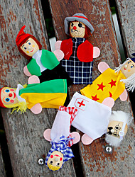cheap -6 pcs Finger Puppets Pretend Play Educational Toy Hand Puppets People Clown Cute Lovely Cotton Cloth Imaginative Play, Stocking, Great Birthday Gifts Party Favor Supplies Boys and Girls Adults Kids