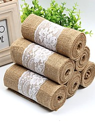 cheap -Chair Sash Lace / N / A / Jute Wedding Decorations Wedding / Party / Evening Floral Theme / Classic Theme / Vintage Theme All Seasons