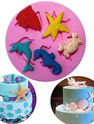 Недорогие -сделай сам морской мир силиконовые формы печенье печенье торт помадка