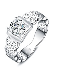 cheap -Women's Statement Ring Silver Silver Plated Geometric Ladies Fashion Daily Jewelry filigree