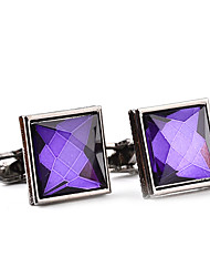 cheap -Cufflinks Formal Classic Elegant Fashion Crystal Alloy Brooch Jewelry White Purple For Wedding Party Business / Ceremony / Wedding Evening Party