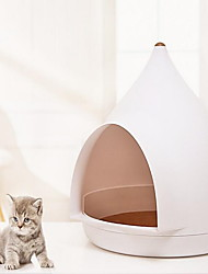 cheap -Cat Dog Beds Tent Cave Bed Plastics Pet Baskets Solid Colored Mini White