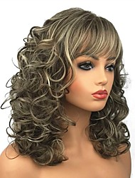 cheap -Synthetic Wig Curly Curly Wig Long Blonde Beige Blonde Synthetic Hair Women's Brown StrongBeauty