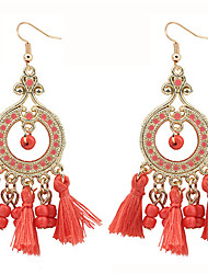 cheap -Women's Drop Earrings Ladies Bohemian Fashion Boho Resin Earrings Jewelry Red / Pink / Light Blue For Going out Bar