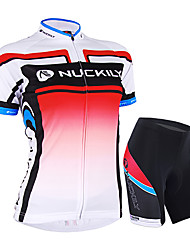 cheap -Nuckily Women's Short Sleeve Cycling Jersey with Shorts Pink Gradient Bike Shorts Jersey Clothing Suit Waterproof Breathable Ultraviolet Resistant Waterproof Zipper Reflective Strips Sports Polyester