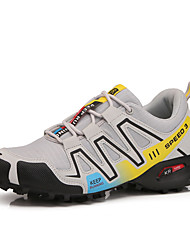 cheap -Men's Comfort Shoes Knit / Canvas Spring & Summer Sporty Athletic Shoes Running Shoes / Fitness & Cross Training Shoes Breathable Black / Gray / Shock Absorbing / Wear Proof
