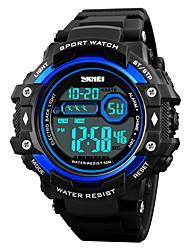 cheap -SKMEI Men's Sport Watch Wrist Watch Digital Watch Digital Casual Water Resistant / Waterproof Digital Black Red Blue / One Year / Quilted PU Leather / Japanese / Alarm / Calendar / date / day