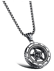 cheap -Men's Women's Pendant Necklace Tire Vintage scottish Alloy Silver Necklace Jewelry For Daily Street