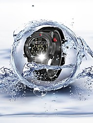 cheap -Men's Couple's Sport Watch Digital Watch Quartz Silicone Black 30 m Water Resistant / Waterproof Bluetooth Calendar / date / day Digital Luxury Casual Fashion - White Black / Pedometers / Stopwatch